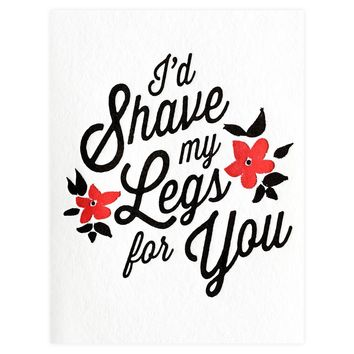 Shaved Legs Greeting Card
