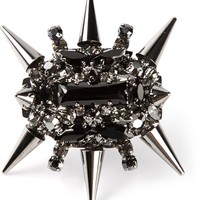 Philipp Plein Spiked Cocktail Ring