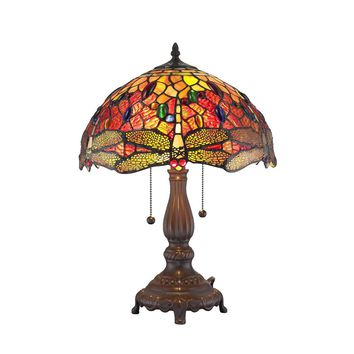Amora Lighting Home Decorative AM1035TL14 Tiffany Style Dragonfly Table Lamp 2 light
