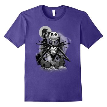 Disney Nightmare Before Christmas Jack Night Scene T Shirt