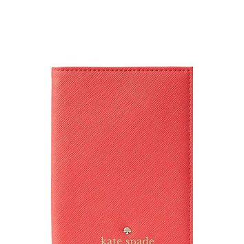 PEAPGQ6 Kate Spade New York Mikas Pond Passport Holder in Saffiano Leather