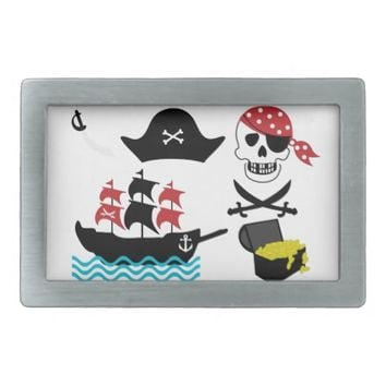 Pirates Rectangular Belt Buckles