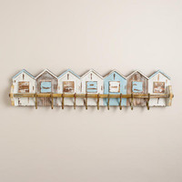 Boathouses with Hooks Wall Rack | World Market
