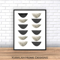 Modern Art, Abstract Art, Printable Art, Geometric Art Print, Scandinavian Art, Mid Century print, Wall Decor, Wall Art, Digital Download