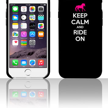Keep Calm and Ride On Horse Design 5 5s 6 6plus phone cases