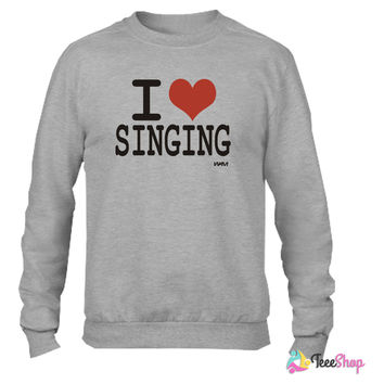 i love singing by wam Crewneck sweatshirtt