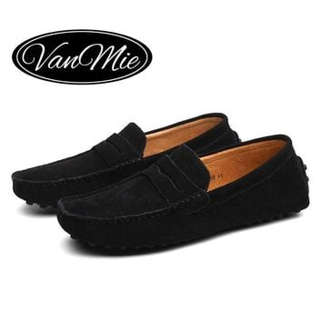 2017 Men Flats Shoes Suede Leather Men Loafers Moccasins Slip On Men's Flats Loafers S
