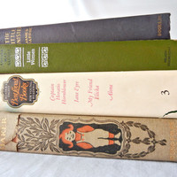 Book Bundle Classic Youth Fiction Titles, Little Women, Little Minister, Merry Maker, My Friend Flicka, Jane Eyre, and More, 20s-60s