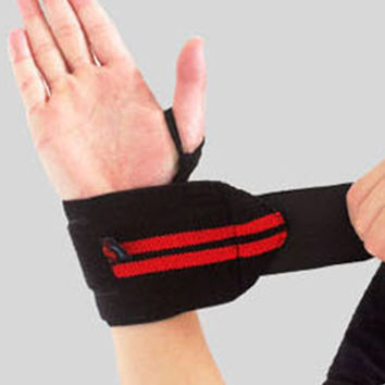 New 1 Pair Gym Weightlifting Training Weight Lifting Gloves Bar Grip Barbell Straps Wraps Wrist Support Hand Protection