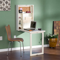 Upton Home Murphy Winter White Fold-out Convertible Desk | Overstock.com Shopping - The Best Deals on Desks