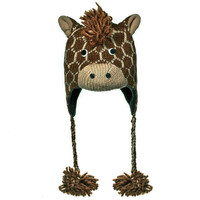 Geoff The Giraffe Peruvian Knit Hat