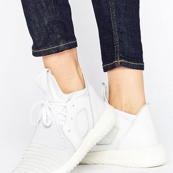 adidas Originals White Tubular Defiant Sneakers at asos.com