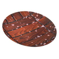 Cool Brown Wooden Ply texture With Wintry Snow Ice Dinner Plate