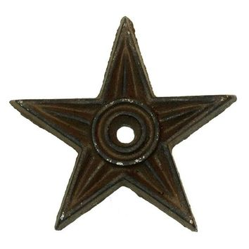 Cast Iron Star - Center Hole Medium Set of 6