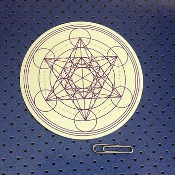 Metatron Cube - Sacred Geometry Bumper Sticker