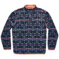 Dorado Fleece Pullover in Midnight Gray and Teal by Southern Marsh