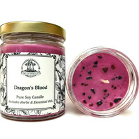 Dragons Blood Soy Spell Candle For Protection, Purification, Power & Love (Wiccan Pagan Hoodoo Conjure)