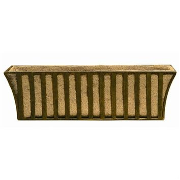 SheilaShrubs.com: Solera Small Metal Window Box with Coco Liner WB124 by Deer Park Ironworks: Planters