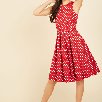 Lindy Hop and You Don't Stop A-Line Dress in Red | Mod Retro Vintage Dresses | ModCloth.com