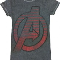The Avengers Circle Charcoal Heather Juniors T-shirt - The Avengers - | TV Store Online