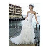 Tiered Ruffle Organza A-line Sweetheart Corset  Romantic Wedding Dress - Star Bridal Apparel