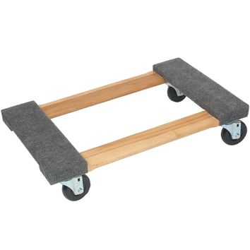 Monster Trucks Wood 4-wheel Piano Carpeted Dolly