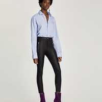 HIGH RISE WAX TROUSERS DETAILS