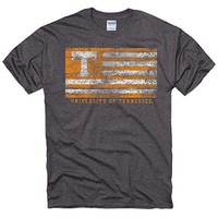 "Tennessee Volunteers ""Distressed Flag"" T-shirt - Dark Grey"