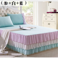 Factory price new special cotton bedspread Chiffon Cake princess bedskirt plain bedroom bed sheet wedding decoration gift