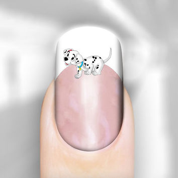 Nail Art Decal Disney 101 Dalmatian Dogs Puppy Transfer Set of 30 Images Adult Kid Sz