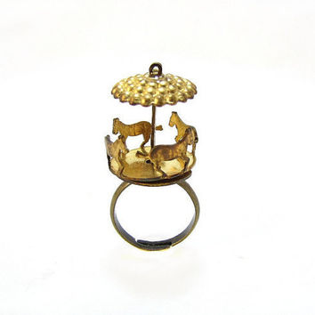Carousel Horse Ring  Cute  Vintage Merry Go Round  by CuteAbility