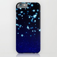 Twinkele Blue Stars iPhone & iPod Case by LEMAT WORKS