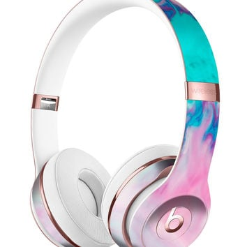 Marbleized Pink and Blue Paradise V432 Full-Body Skin Kit for the Beats by Dre Solo 3 Wireless Headphones