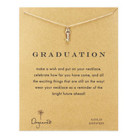 graduation heart key necklace, gold dipped - Dogeared