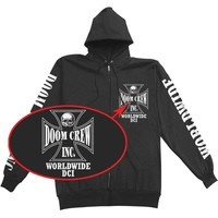 Black Label Society Men's  Doom Crew Zippered Hooded Sweatshirt Black