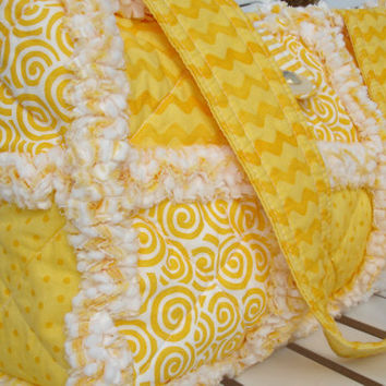 Custom Rag Quilt Purse SUMMER SUN and FUN by AuntieBsQuiltsEtc