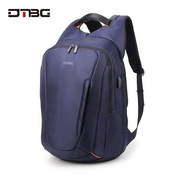 "DTBG 2017 New Smart 15"" Inch Laptop Backpack for Men With External USB Charge Port Water Resistant Travel School Computer Bag"