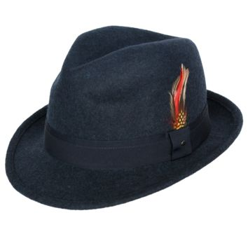 "New! 9th Street ""Verve"" Wool Trilby Fedora"
