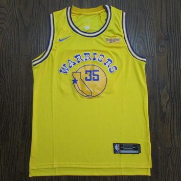 Men's Golden State Warriors #35 Kevin Durant Nike Gold Classic Hardwood 2018/19 Swingman Jersey - Best Deal Online