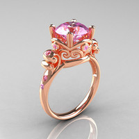 Modern Vintage 14K Rose Gold 25 Carat Light Pink by artmasters