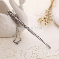 The new factory direct supply Hermione, Dumbledore, Harry Potter magic wand magic wand alloy necklace key chain YP0392