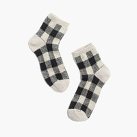 Buffalo Check Ankle Socks