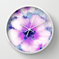 Rose of Sharon Bloom Wall Clock by Nina May Designs