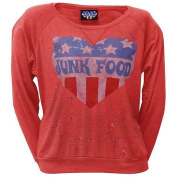 CREYON Junk Food - Splatter Juniors Long Sleeve T-Shirt