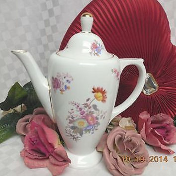 Copeland Spode Bone white  China Dinnerware # Y692682 Coffee Pot