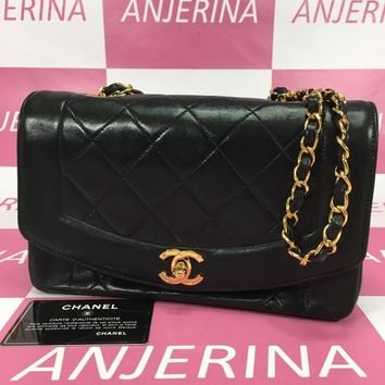Chanel Women's Leather Shoulder Bag Black From Japan Free shipping