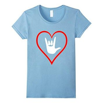 American Sign Language (Asl) I Love You Tshirt Gift