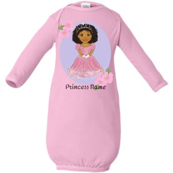Infant Layette Custom Personalized With Princess Baby Name African American Child Design