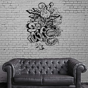 Wall Stickers Monster Ghost Graffiti Street Patterns Vinyl Decal Unique Gift (ed442)