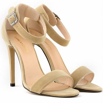 SEXY PARTY OPEN TOE Women Pumps BRIDAL Flock HIGH HEELS SHOES Ladies SANDALS US SIZE 4